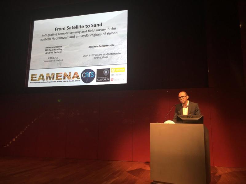 Andrea Zerbini presenting EAMENA's paper (Photo: Rebecca Banks)