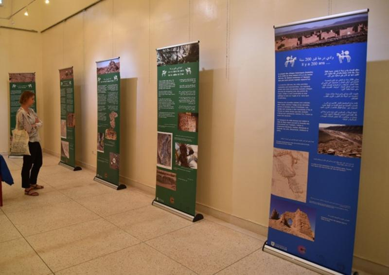 Fig 1: The Wadi Draa pop-up exhibition panels on which the Cultural Protection Fund pop-up exhibition panels are based.