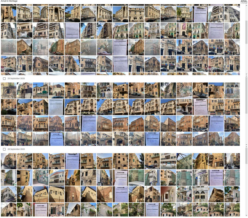 A small sample of the data and photos collected during the survey (DGA data, HerBridge screenshot).