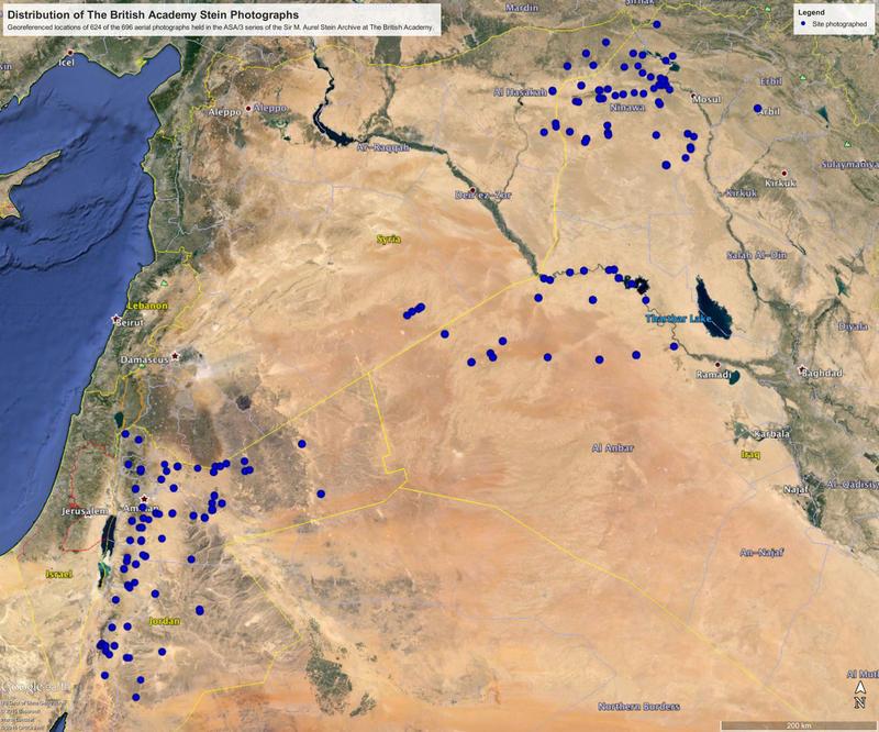 Aurel Stein distribution map