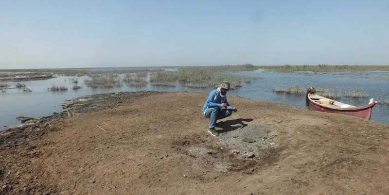 Flooding threatens many sites through ThiQar Province, Iraq.