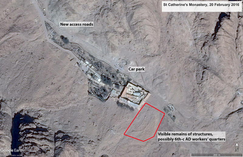 Figure 2 Google Earth imagery of St Catherine's Monastery, 20 February 2016