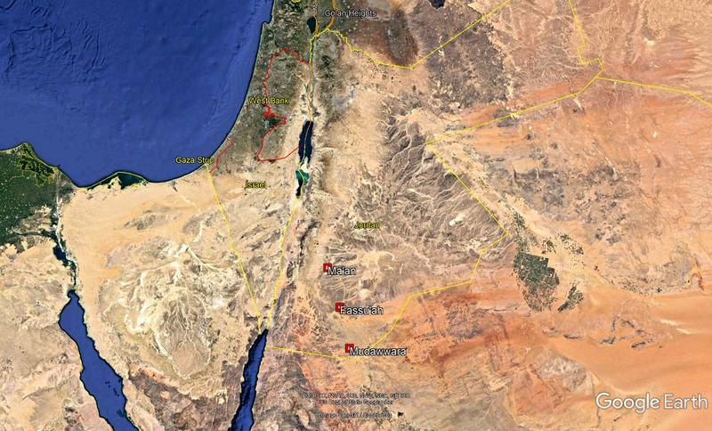 Figure 2. The location of the forts. Country border data, US Dept of State Geographer. Image, Landsat/ Copernicus and Google Earth 2018.