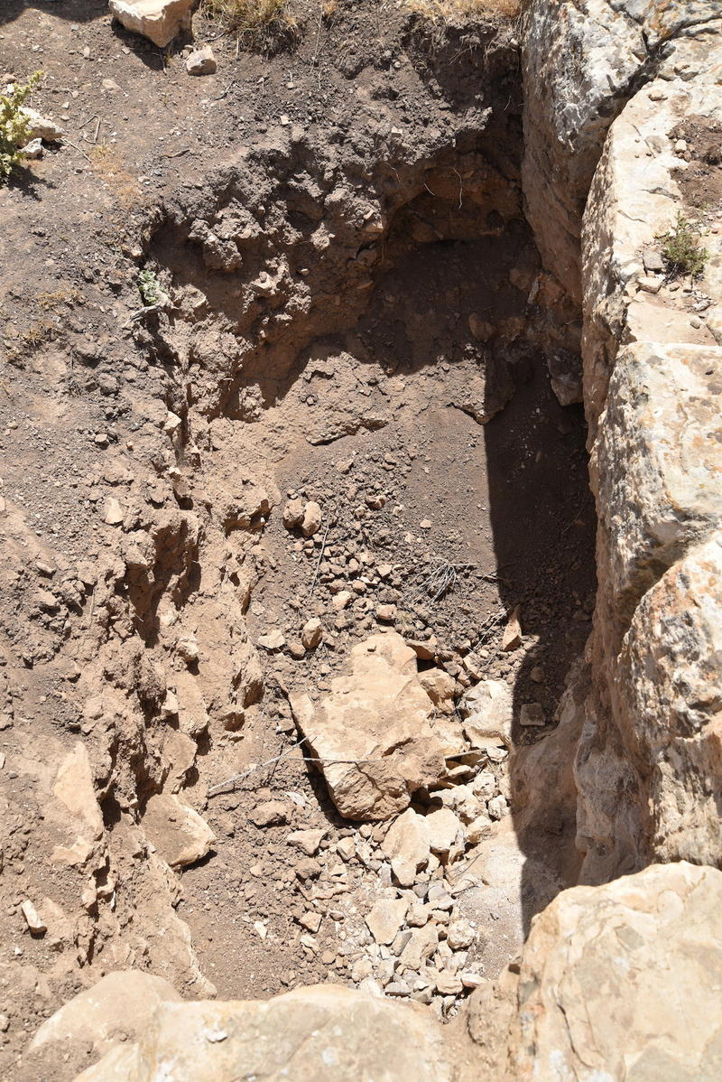 Figure 8: Clandestine excavation (probably looting) at MAD-0039.