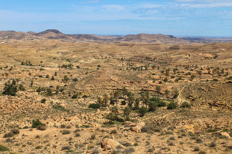 Project site in the El Dhaher Mountain Range, Tunisia.