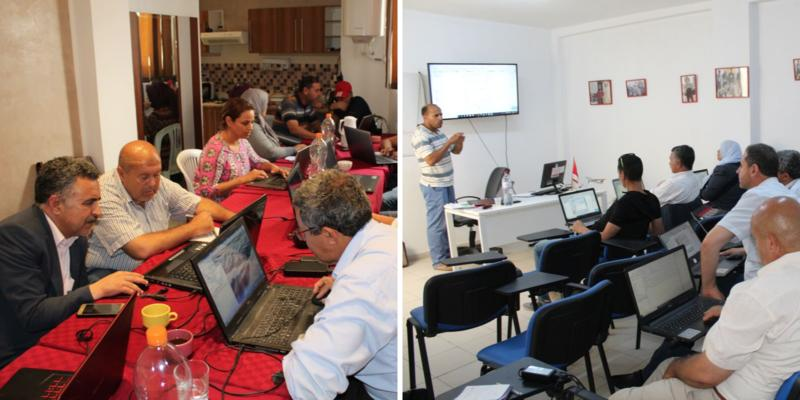 Training in satellite prospecting and the use of QGIS software.