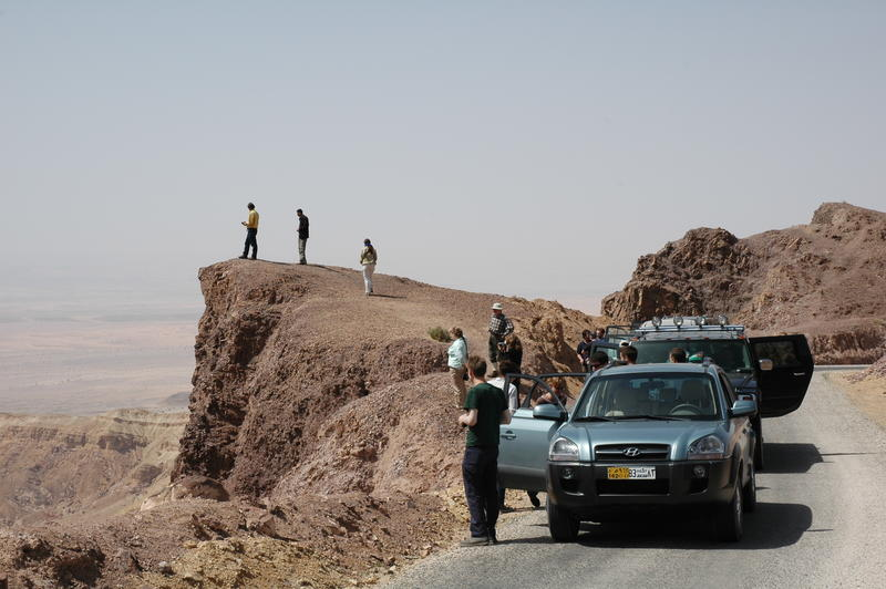 Along the Neolithic Heritage Trail, views down to the Wadi Araba. Image courtesy of Bill Finlayson