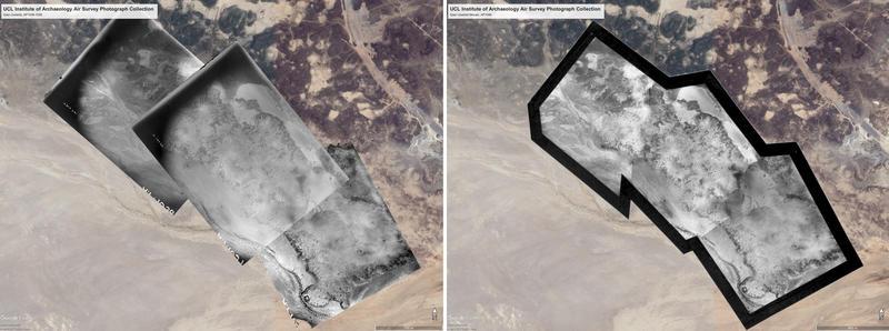 Qasr Uweinid Left: AP1036-1038, Right: Mosaic AP1040