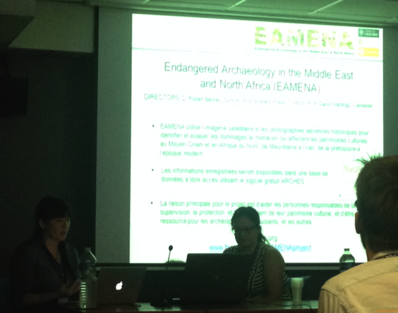 Figure 2: Nichole and Louise introducing EAMENA (photo Michael Fradley)