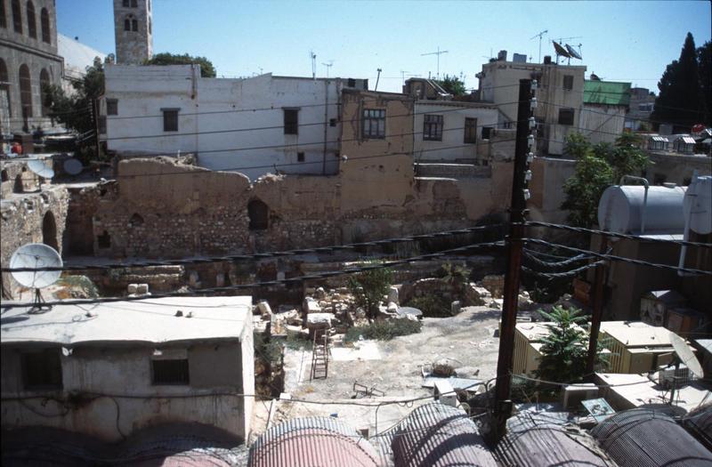 Fig. 3. Development around Roman baths, Damascus, Syria, 2003.