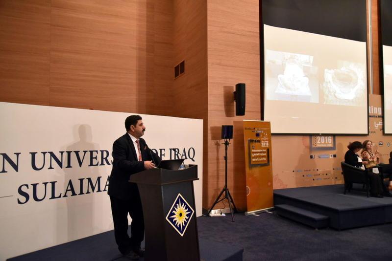Dr Abdullah Khorsheed talking about the work of IICAH.