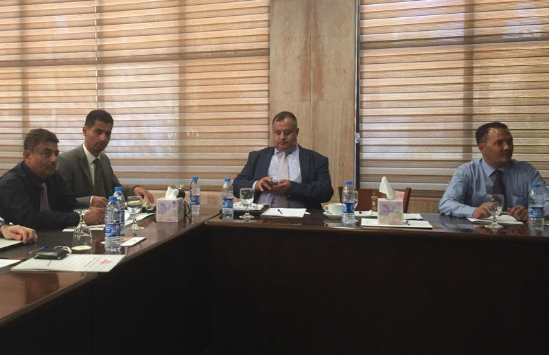 Figure 2: Members of the GOAM team, including their director Muhannad al-Siyyânî, attend the YHMP focus group workshop in Amman in the summer of 2017