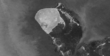 Figs 13(left) and 14 (right): Eastern Delta site in 1960s (Corona) and in 2014 (Google Earth)