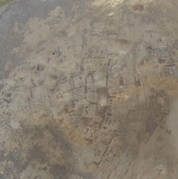 Fig. 9: Kom Wasit, remains of the ancient town (courtesy of Italian mission in Beheira) at 11am