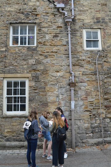 Figure 2 Participants carry out a condition assessment on Durham's heritage sites.