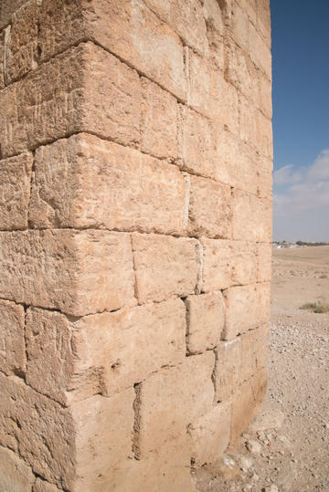 Numerous inscriptions on the surface of the stylite tower. Photograph: Rebecca Banks.
