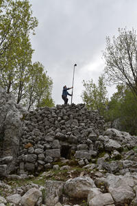 Figure 9: Photogrammetry specialist Owen Murray in action on the Ottoman limekiln.
